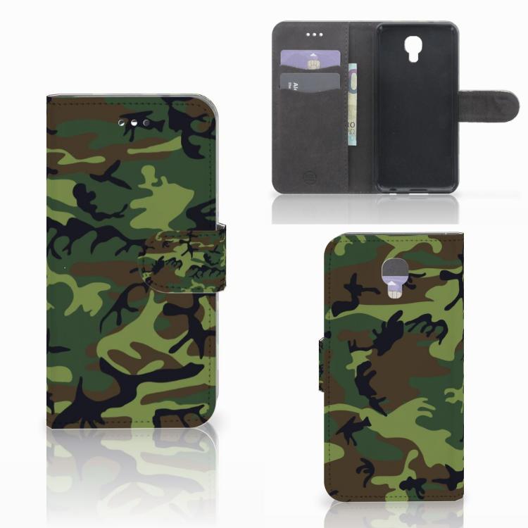 LG X Screen Telefoon Hoesje Army Dark