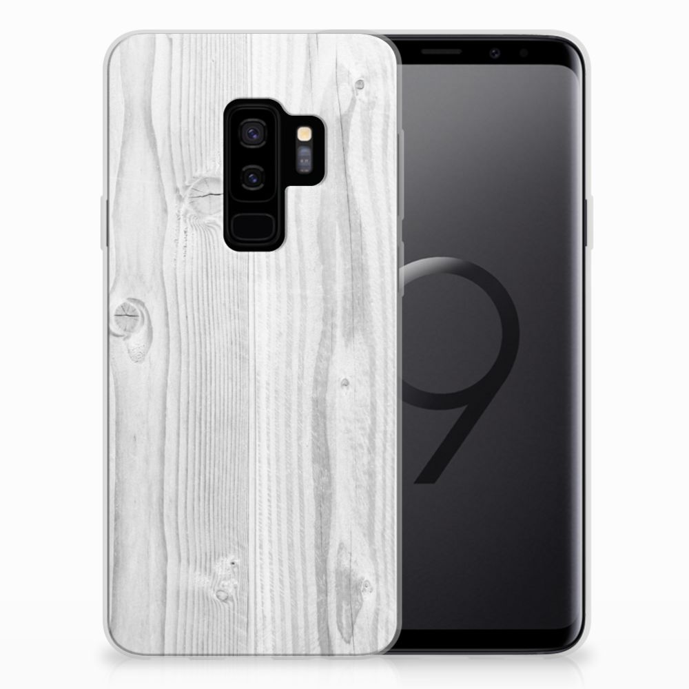 Samsung Galaxy S9 Plus Bumper Hoesje White Wood