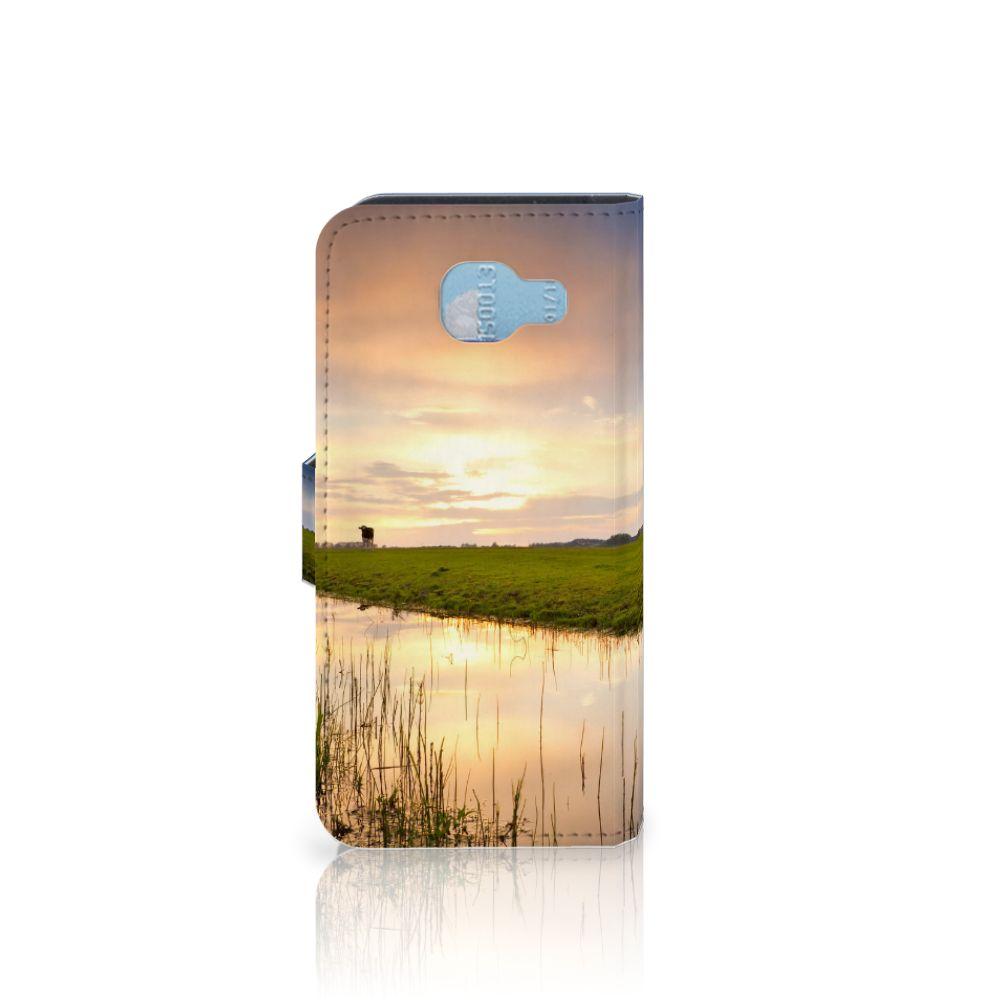Samsung Galaxy A5 2016 Telefoonhoesje met Pasjes Koe
