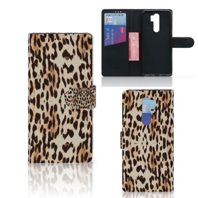Xiaomi Note 8 Pro Telefoonhoesje met Pasjes Leopard