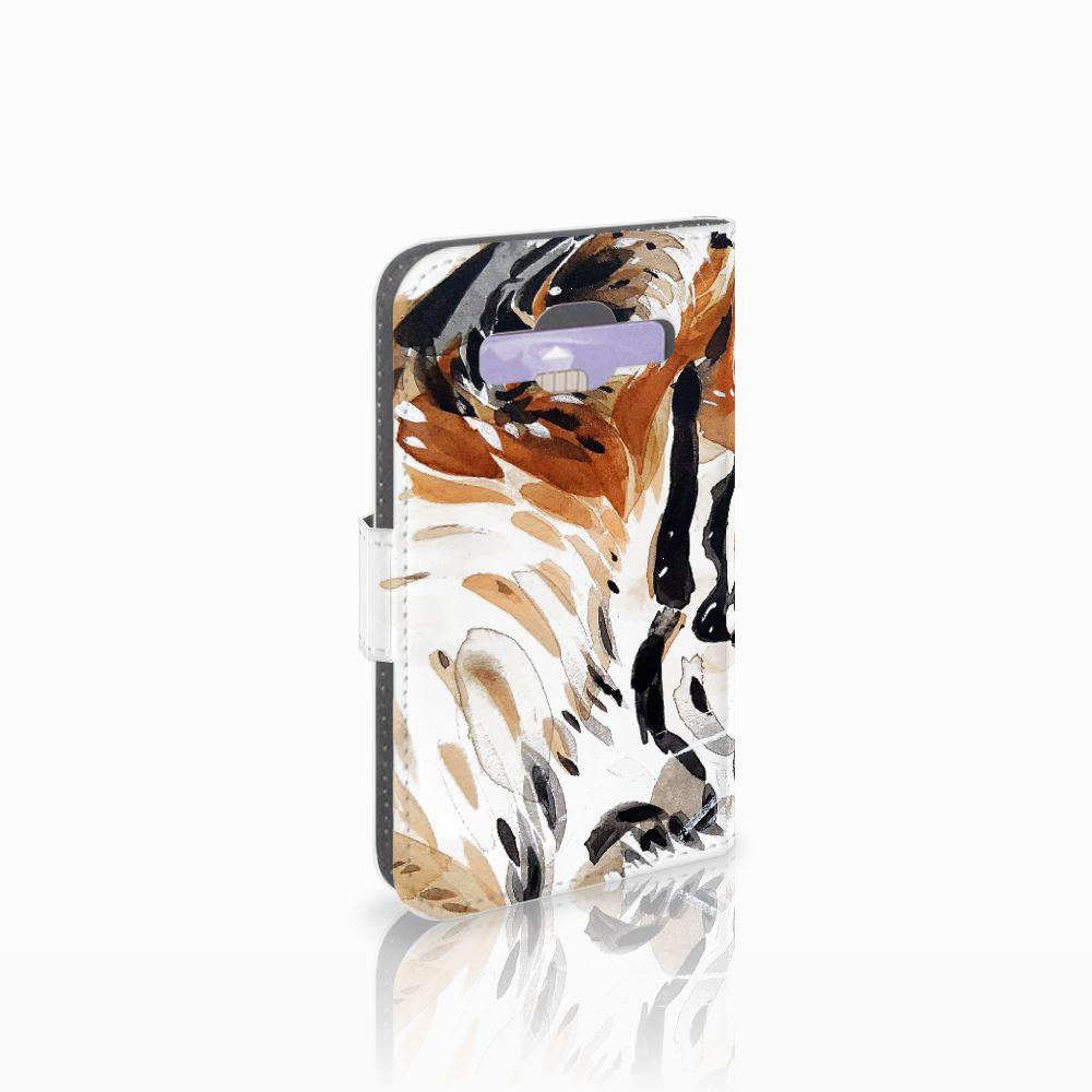 Samsung Galaxy Core Prime Uniek Boekhoesje Watercolor Tiger