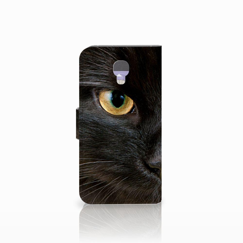 LG X Screen Telefoonhoesje met Pasjes Zwarte Kat
