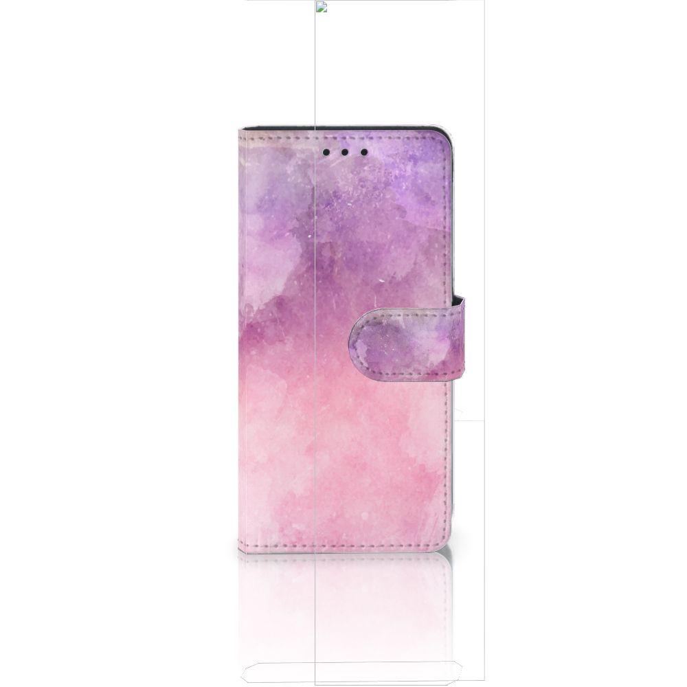 Huawei Ascend P8 Lite Boekhoesje Design Pink Purple Paint
