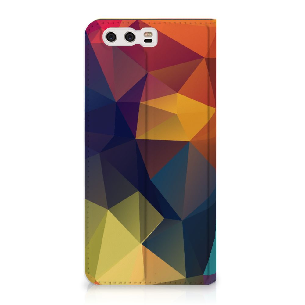Huawei P10 Plus Stand Case Polygon Color