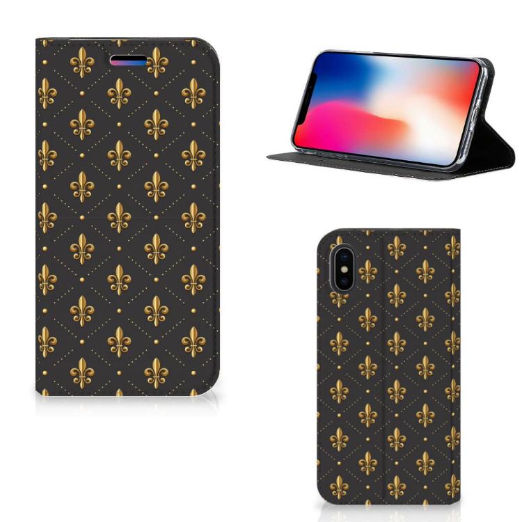 Apple iPhone X | Xs Hoesje met Magneet Franse Lelie