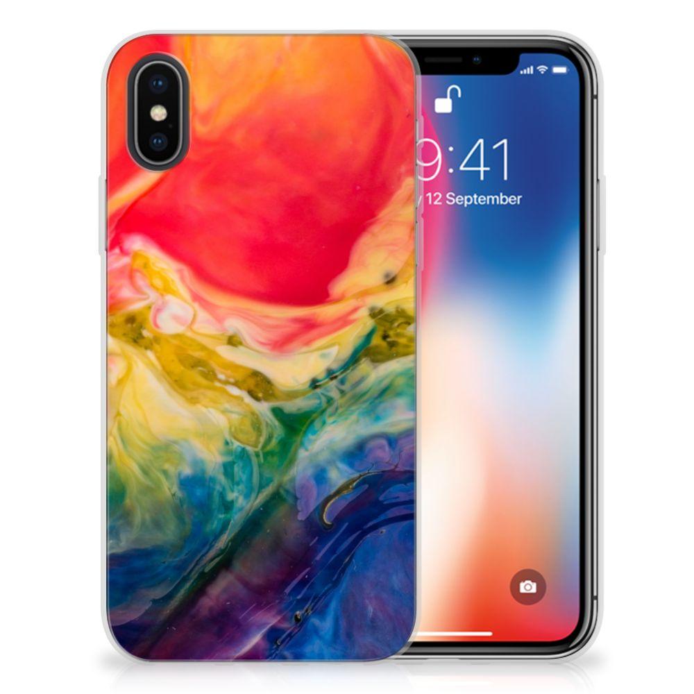 Hoesje maken Apple iPhone X | Xs Watercolor Dark