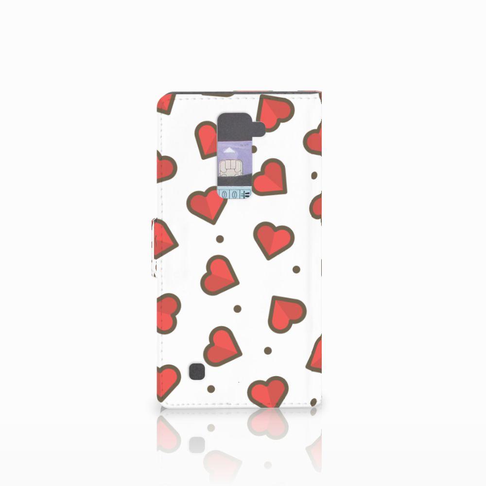 LG K10 2015 Telefoon Hoesje Hearts