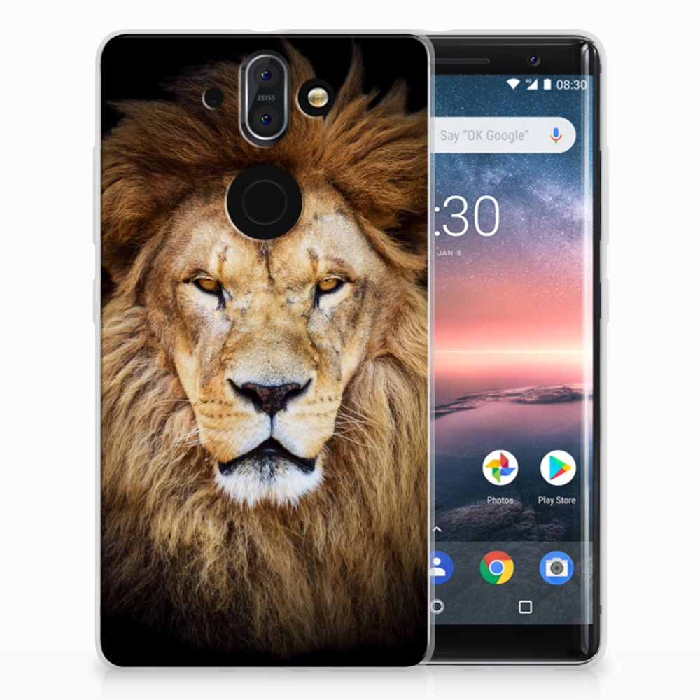 Nokia 9 | 8 Sirocco TPU Hoesje Leeuw