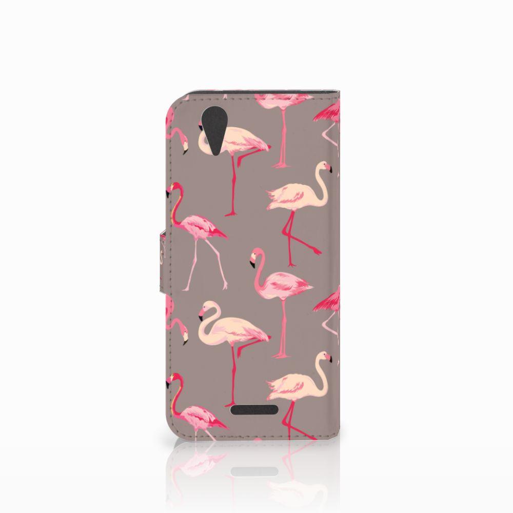 Acer Liquid Z630   Z630s Telefoonhoesje met Pasjes Flamingo