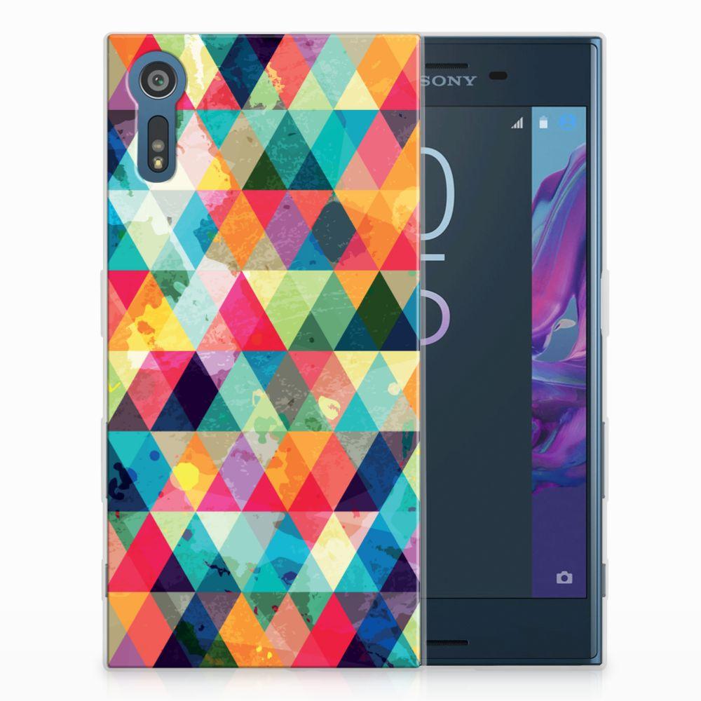 Sony Xperia XZs | XZ TPU bumper Geruit