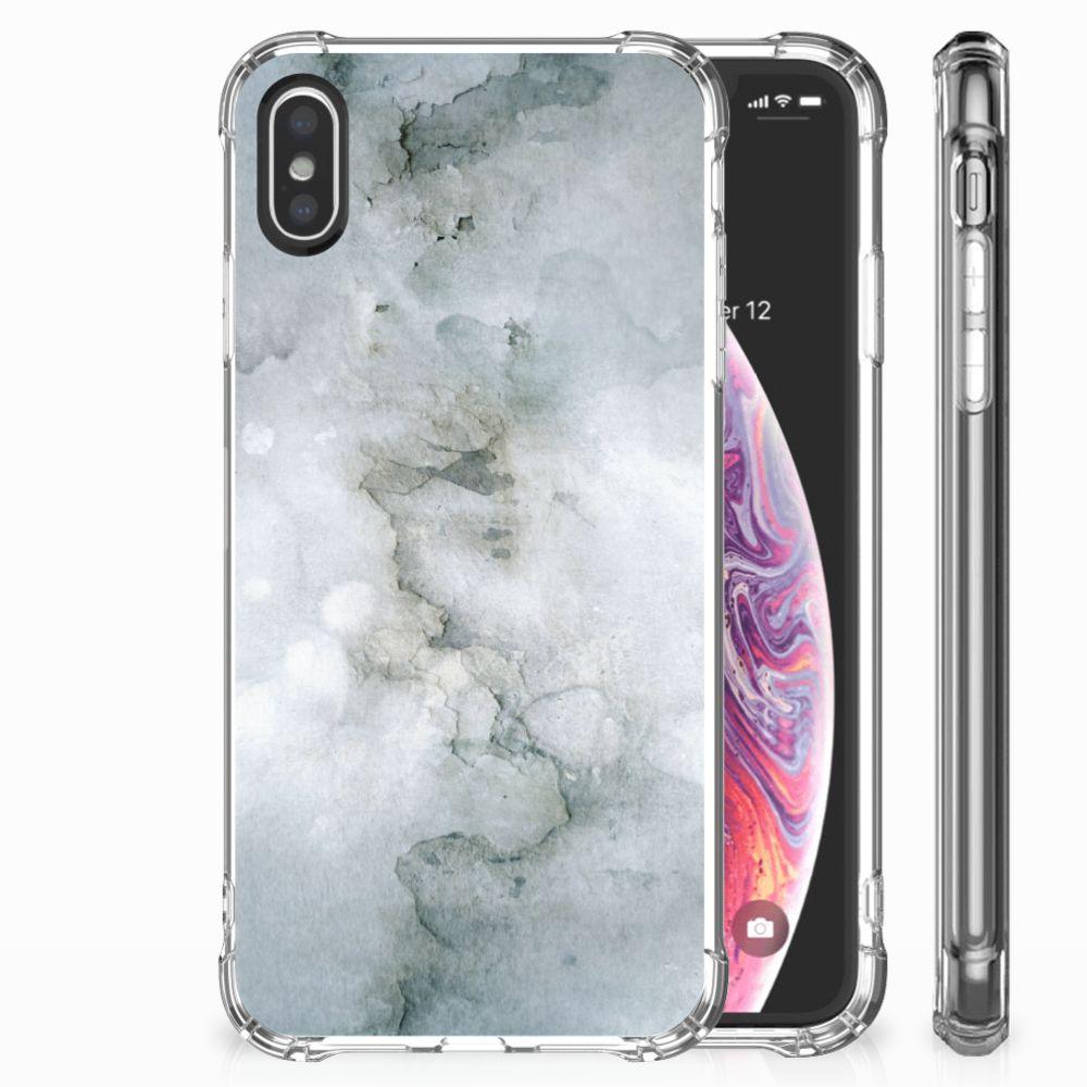 Apple iPhone X | Xs Uniek TPU Hoesje Painting Grey
