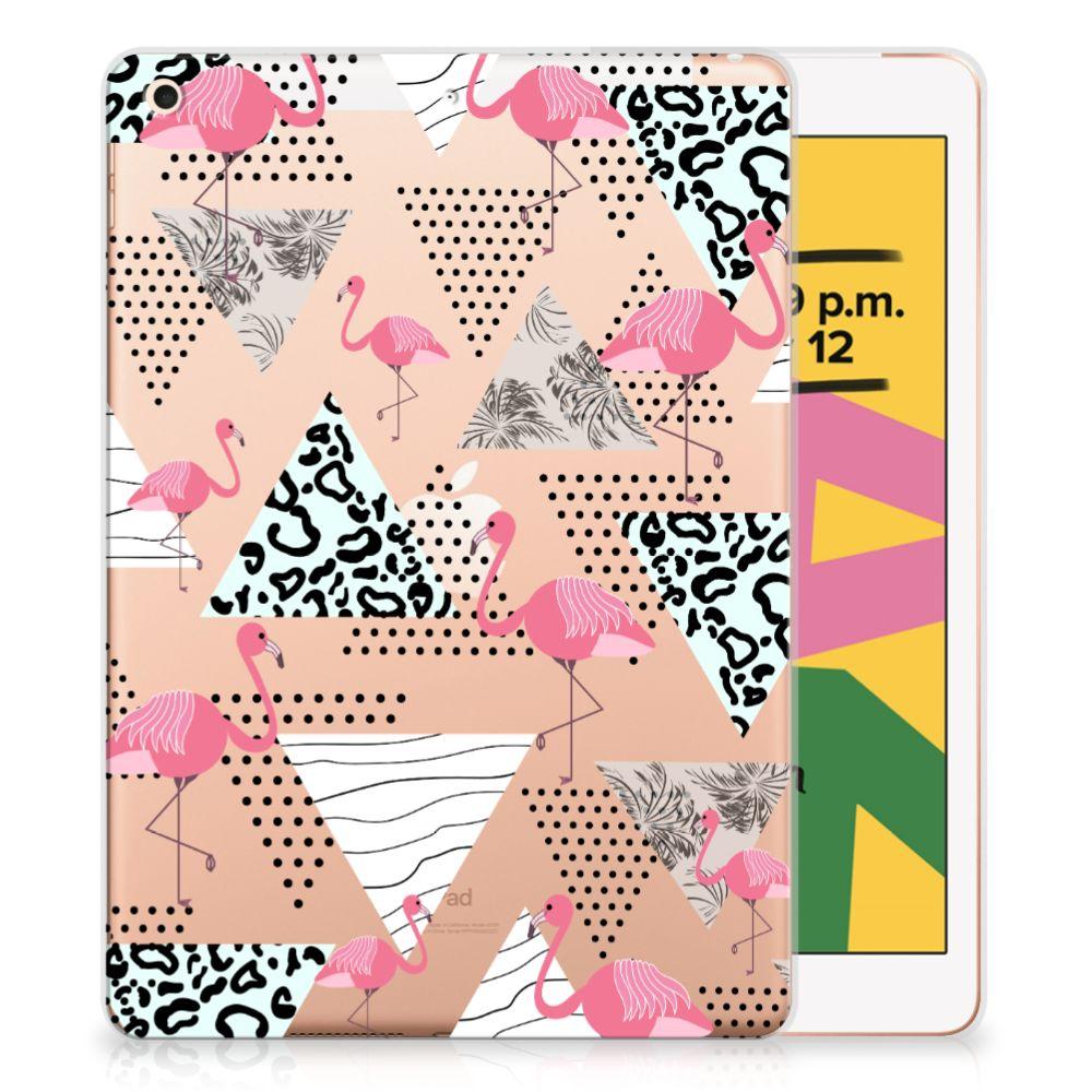 Apple iPad 10.2 (2019) | iPad 10.2 (2020) Back Case Flamingo Triangle