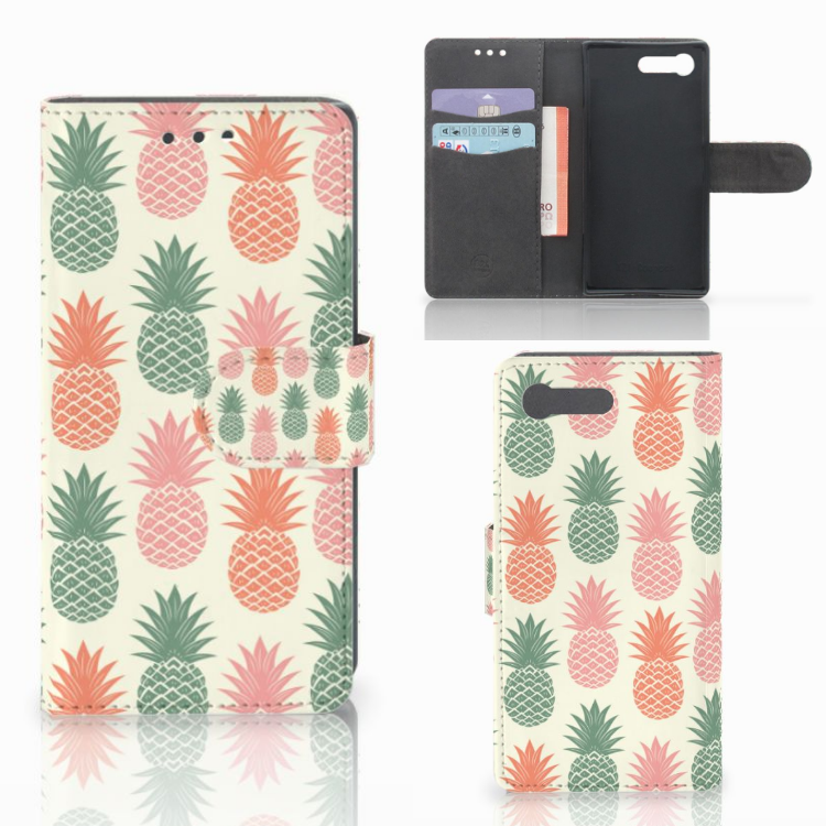 Sony Xperia X Compact Book Cover Ananas