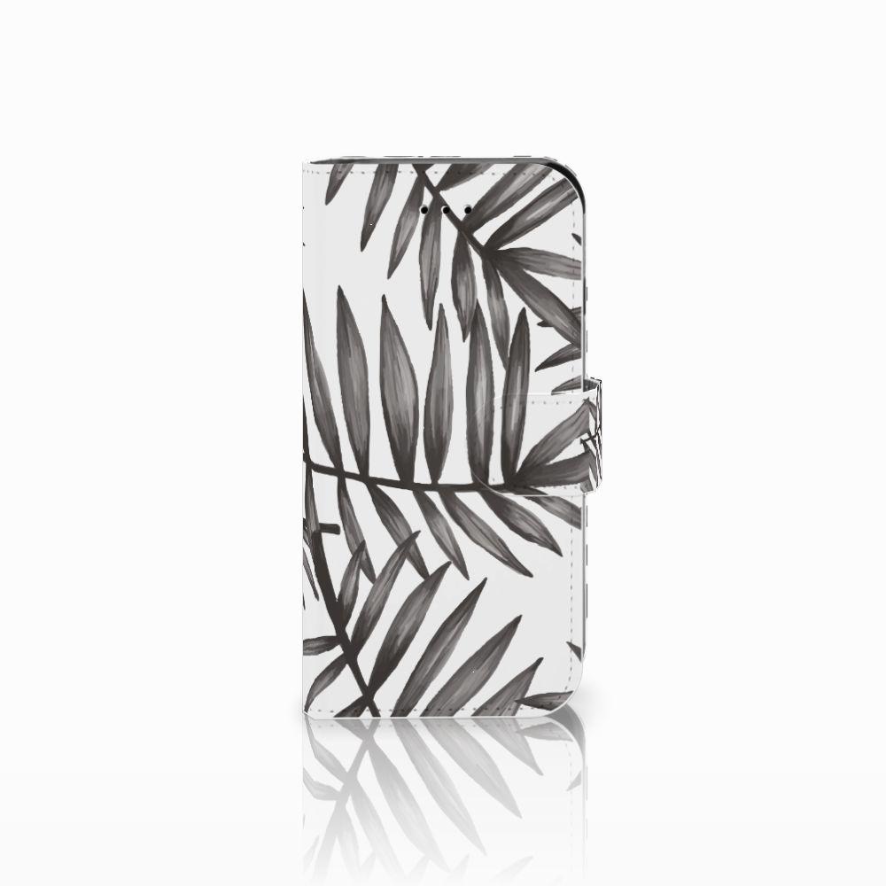 Apple iPhone 6 | 6s Uniek Boekhoesje Leaves Grey