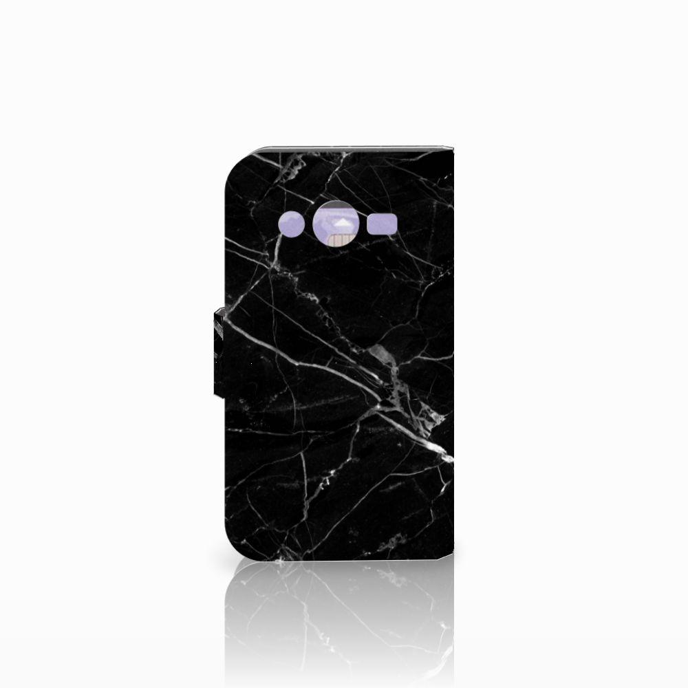 Samsung Galaxy Core 2 Bookcase Marmer Zwart