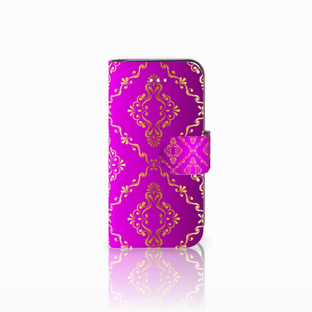 Apple iPhone 5 | 5s | SE Uniek Boekhoesje Barok Roze