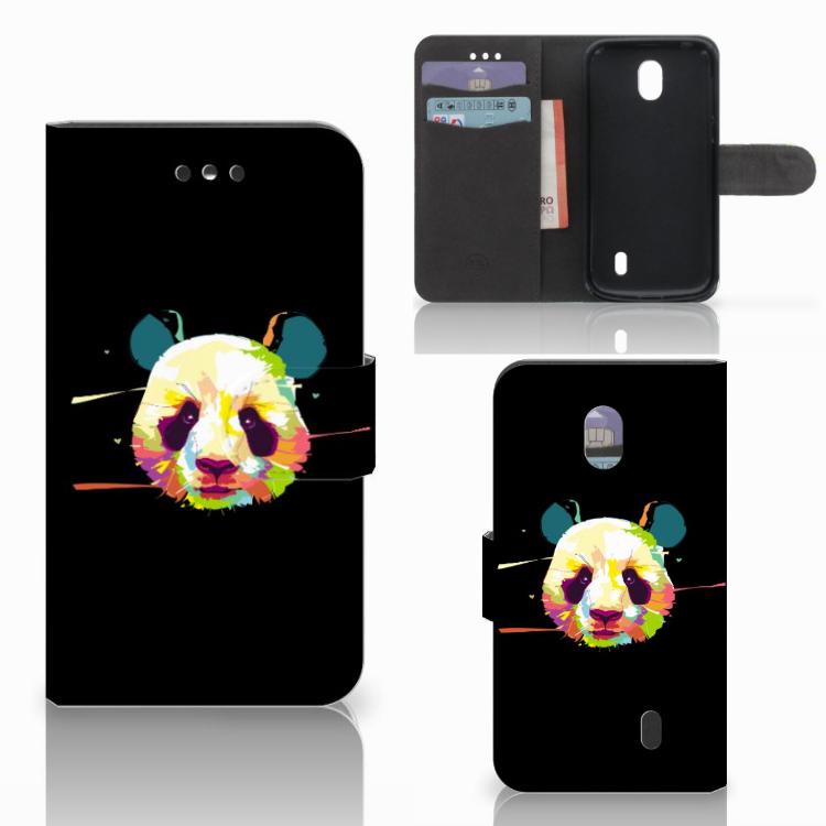 Nokia 1 Leuk Hoesje Panda Color
