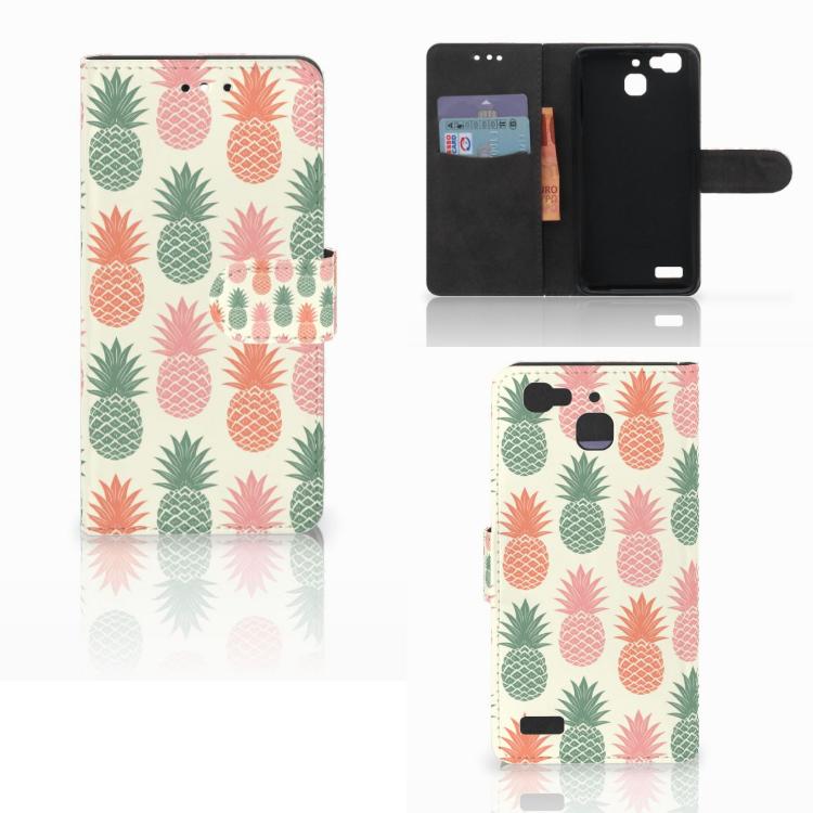 Huawei P8 Lite Smart (GR3) Book Cover Ananas
