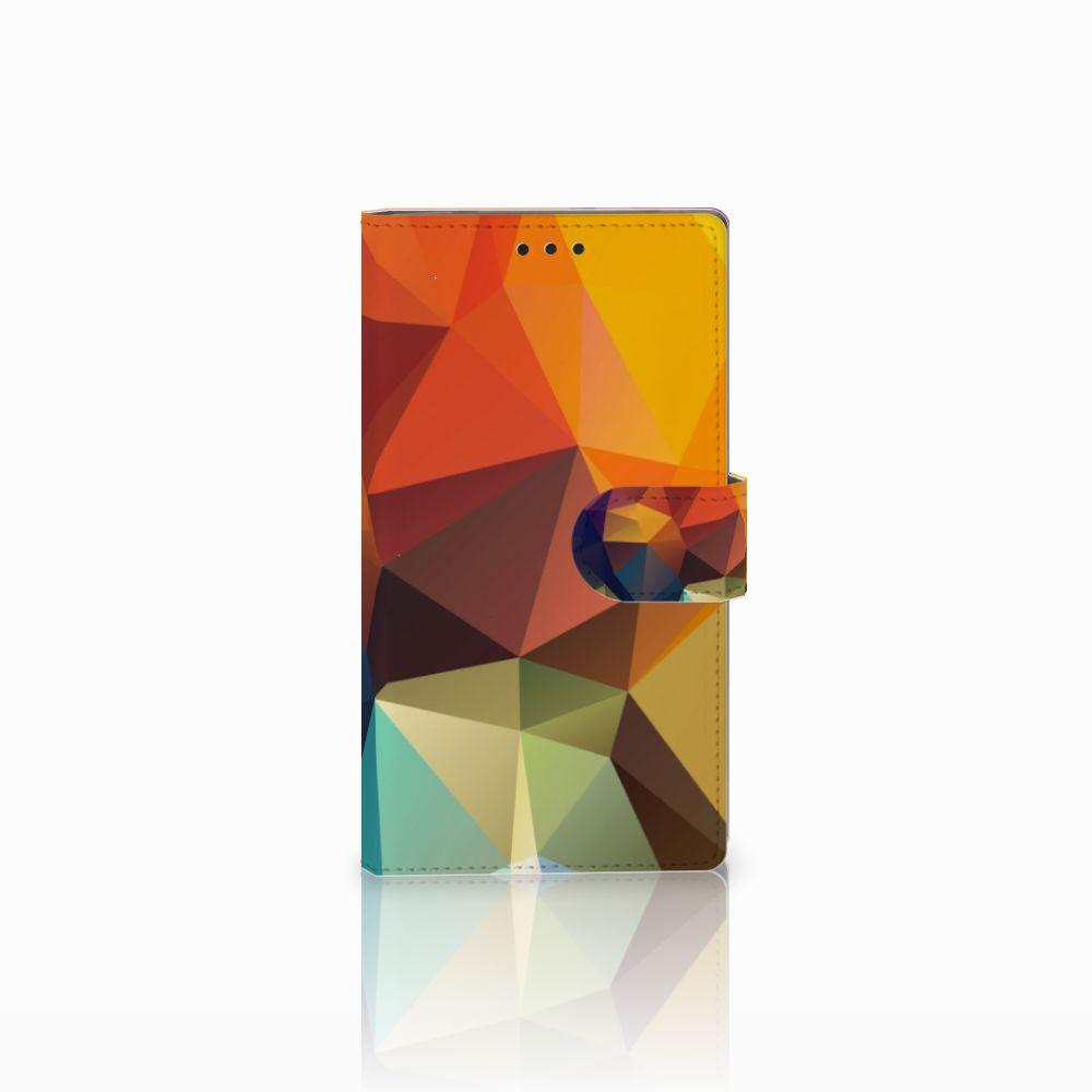 Sony Xperia L2 Bookcase Polygon Color
