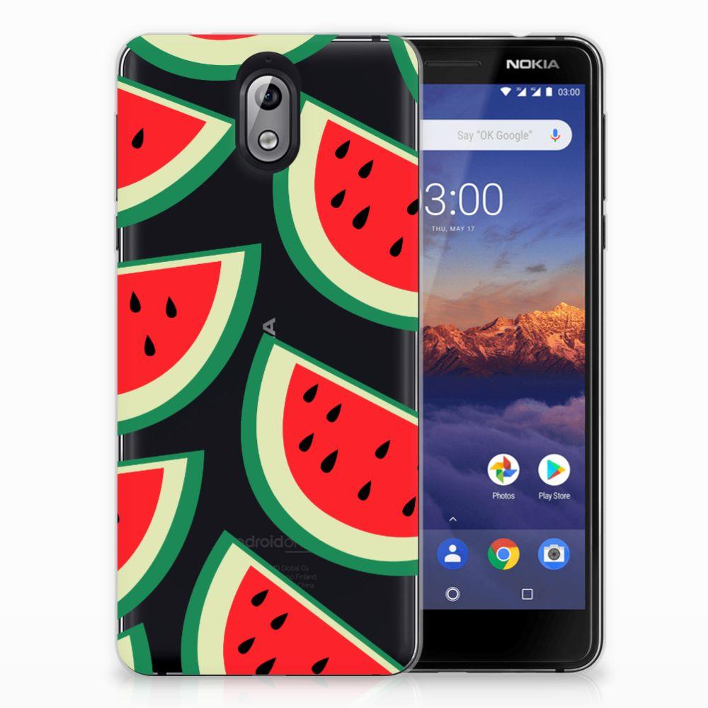 Nokia 3.1 (2018) Siliconen Case Watermelons