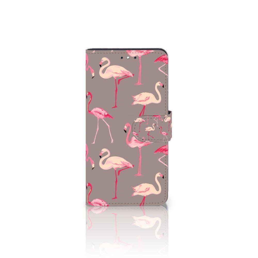 Motorola Moto G5S Plus Uniek Boekhoesje Flamingo