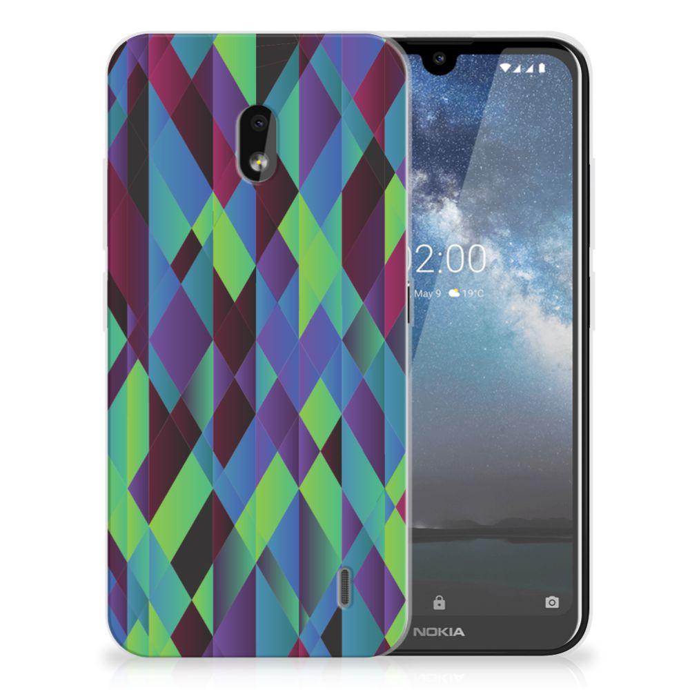 Nokia 2.2 TPU Hoesje Abstract Green Blue