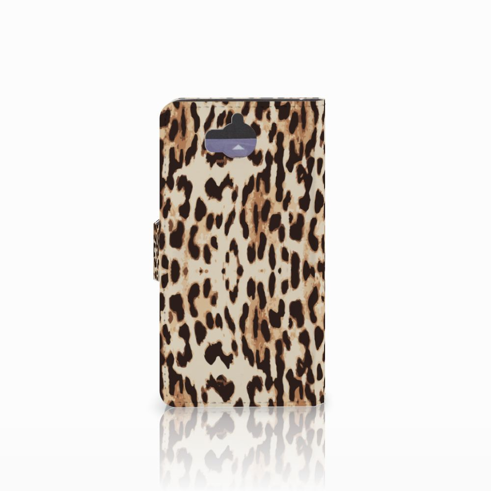 Huawei Y5 | Y6 2017 Telefoonhoesje met Pasjes Leopard