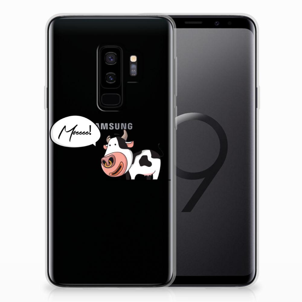 Samsung Galaxy S9 Plus Telefoonhoesje met Naam Cow