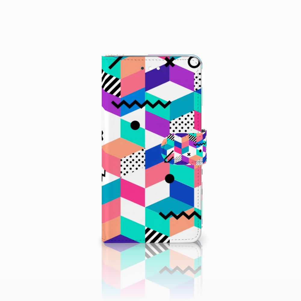 Huawei Ascend G7 Boekhoesje Design Blocks Colorful