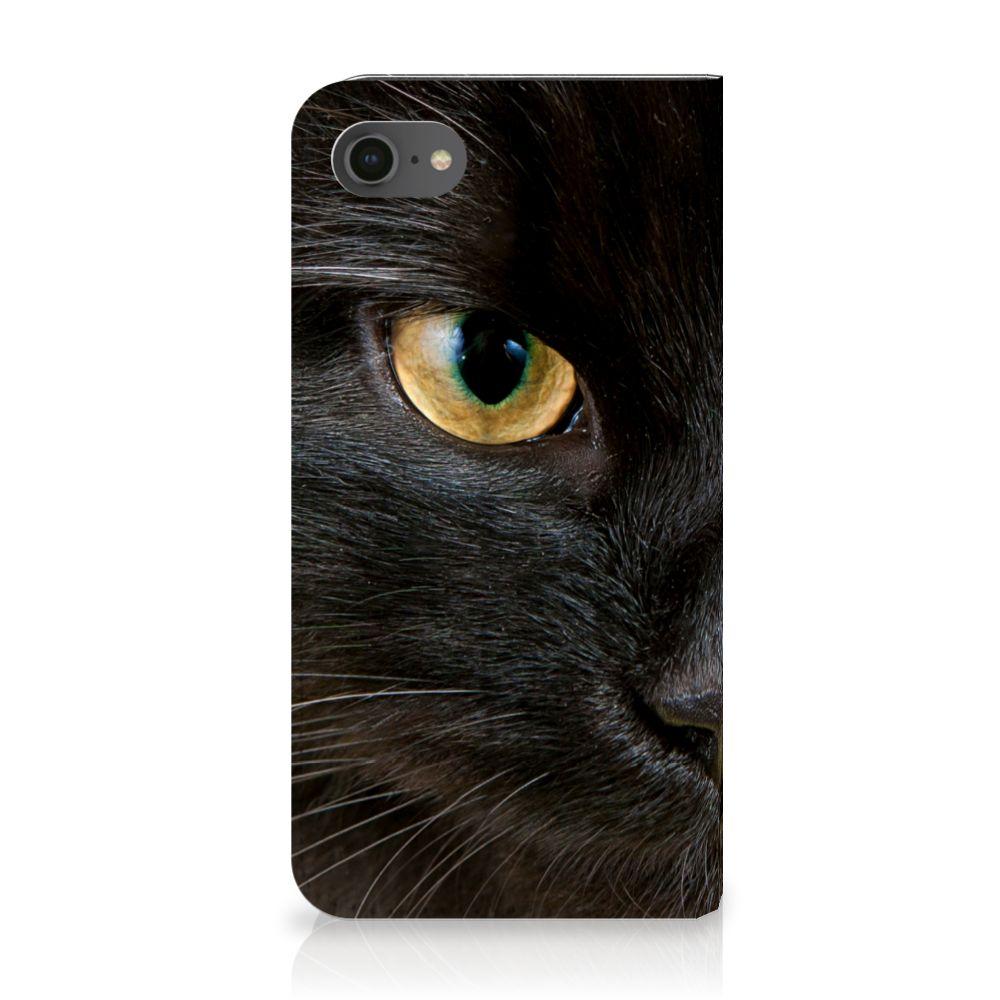 Apple iPhone 7 | 8 Uniek Standcase Hoesje Zwarte Kat