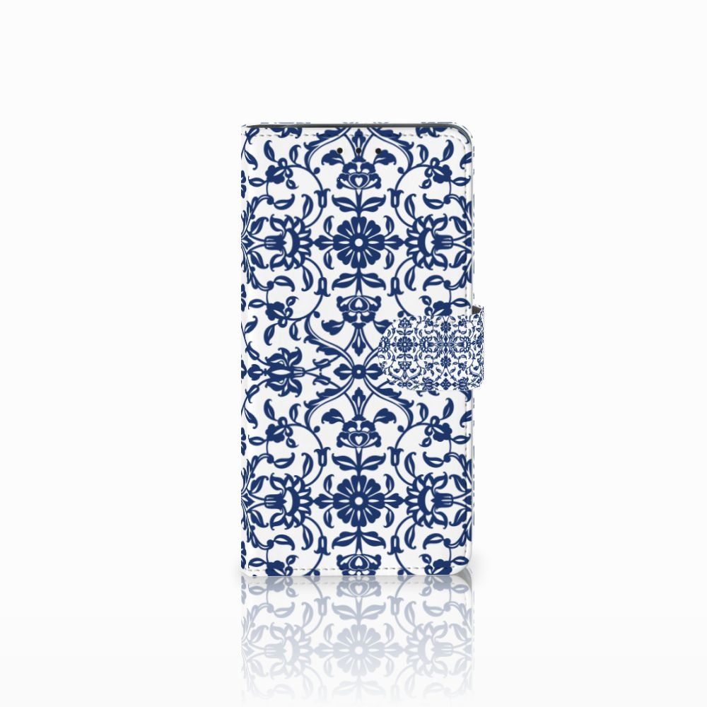 Samsung Galaxy J6 Plus (2018) Hoesje Flower Blue