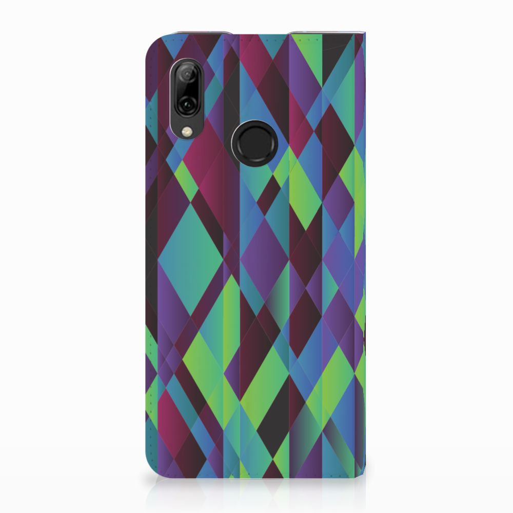 Huawei P Smart (2019) Stand Case Abstract Green Blue