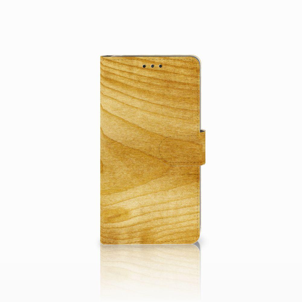 LG G4 Uniek Boekhoesje Licht Hout