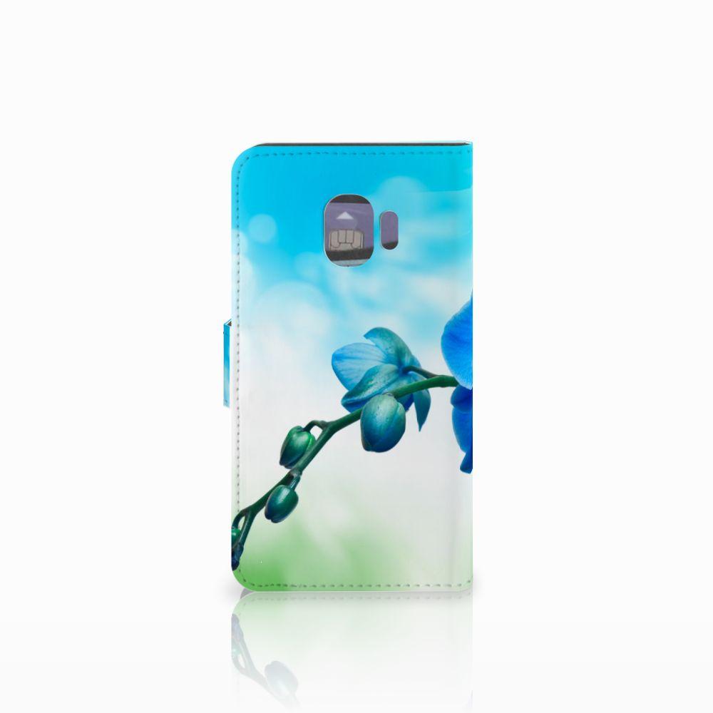 Samsung Galaxy J2 Pro 2018 Hoesje Orchidee Blauw