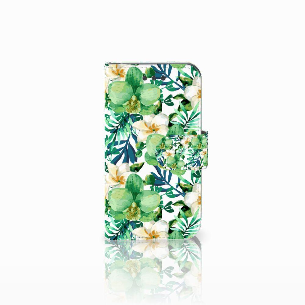 Samsung Galaxy Core 2 Uniek Boekhoesje Orchidee Groen