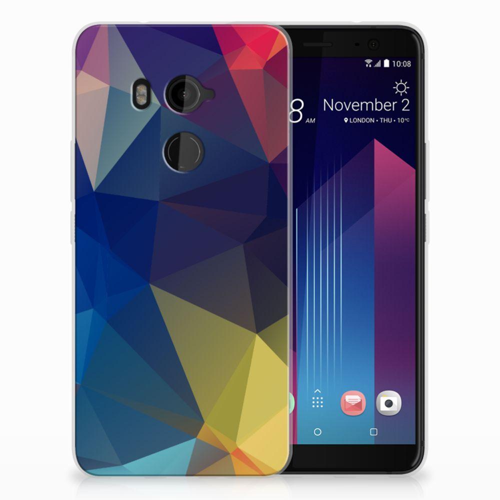 HTC U11 Plus TPU Hoesje Polygon Dark