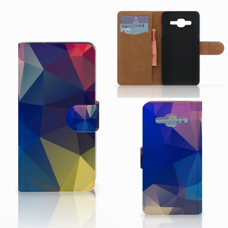 Samsung Galaxy J2 2016 Bookcase Polygon Dark
