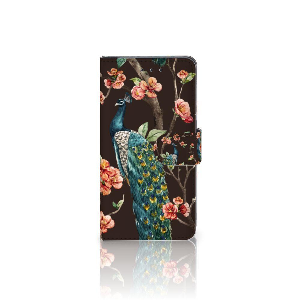 HTC U11 Boekhoesje Design Pauw met Bloemen