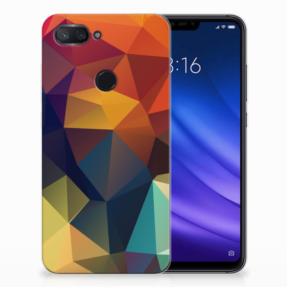Xiaomi Mi 8 Lite TPU Hoesje Polygon Color
