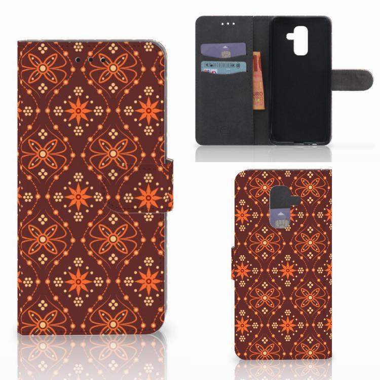 Samsung Galaxy A6 Plus 2018 Telefoon Hoesje Batik Brown