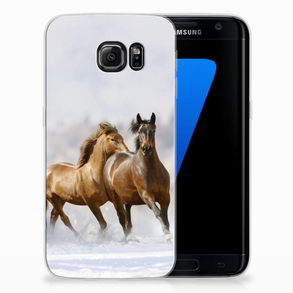 Samsung Galaxy S7 Edge Uniek TPU Hoesje Paarden