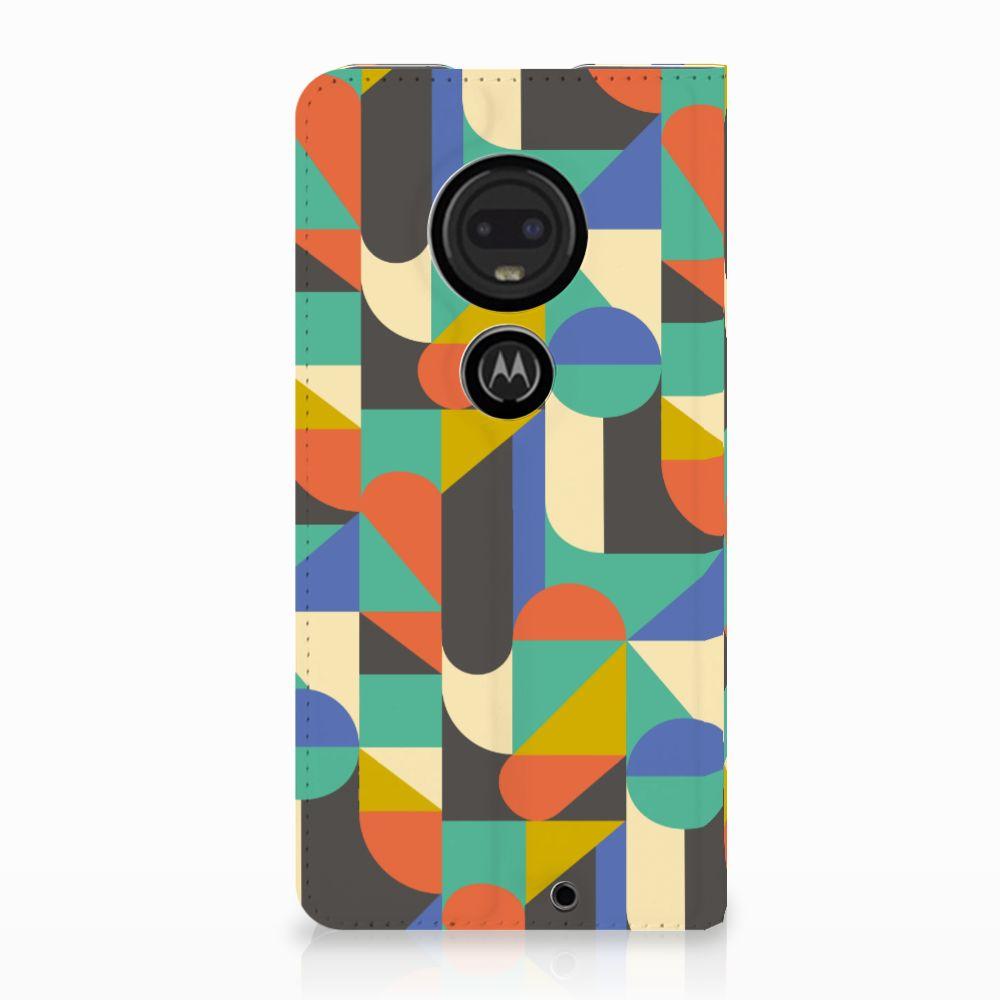 Motorola Moto G7 | G7 Plus Uniek Standcase Hoesje Funky Retro