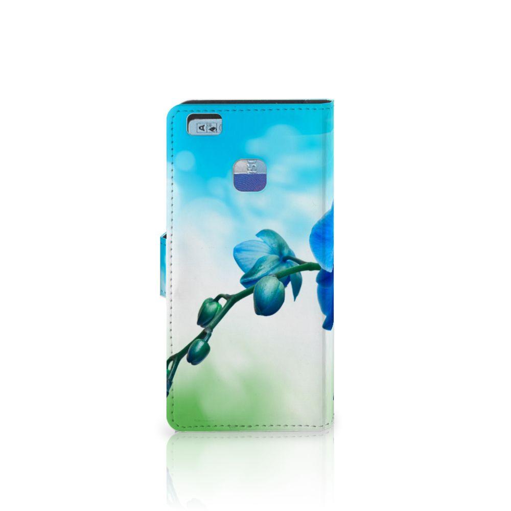 Huawei P9 Lite Hoesje Orchidee Blauw