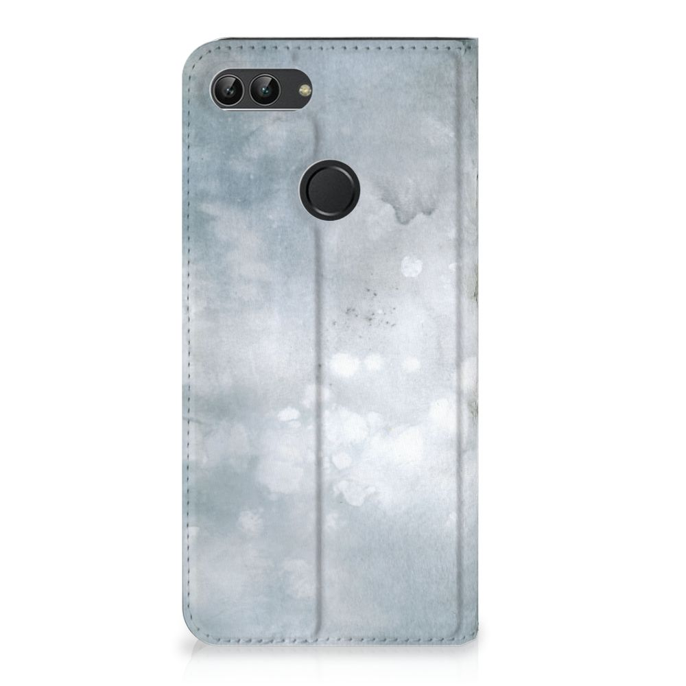 Bookcase Huawei P Smart Painting Grey