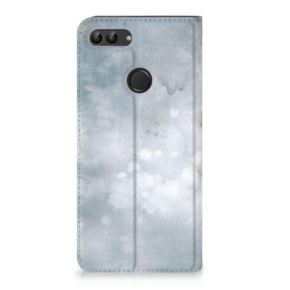 Huawei P Smart Uniek Standcase Hoesje Painting Grey