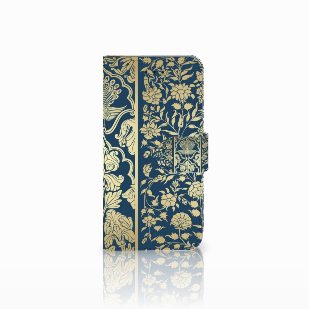 Apple iPhone X | Xs Uniek Boekhoesje Golden Flowers