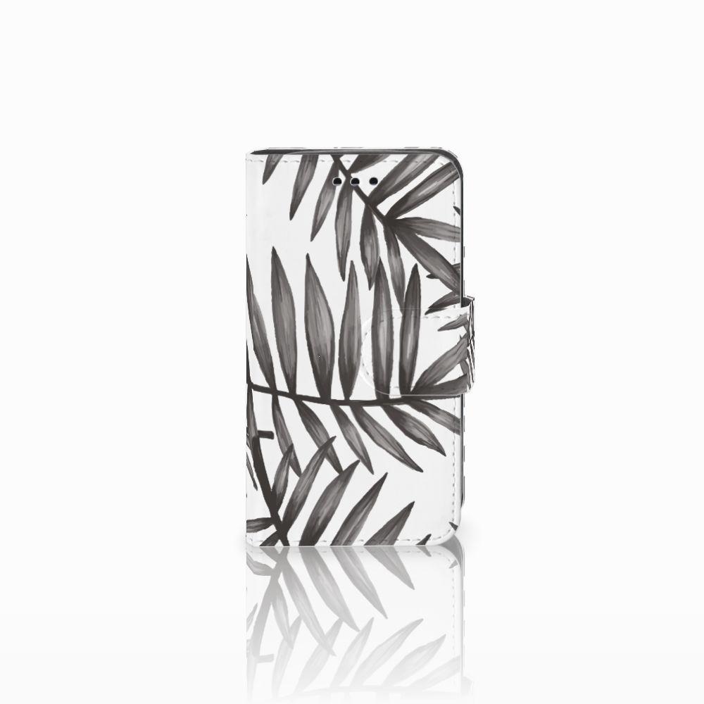 Samsung Galaxy Trend 2 Uniek Boekhoesje Leaves Grey