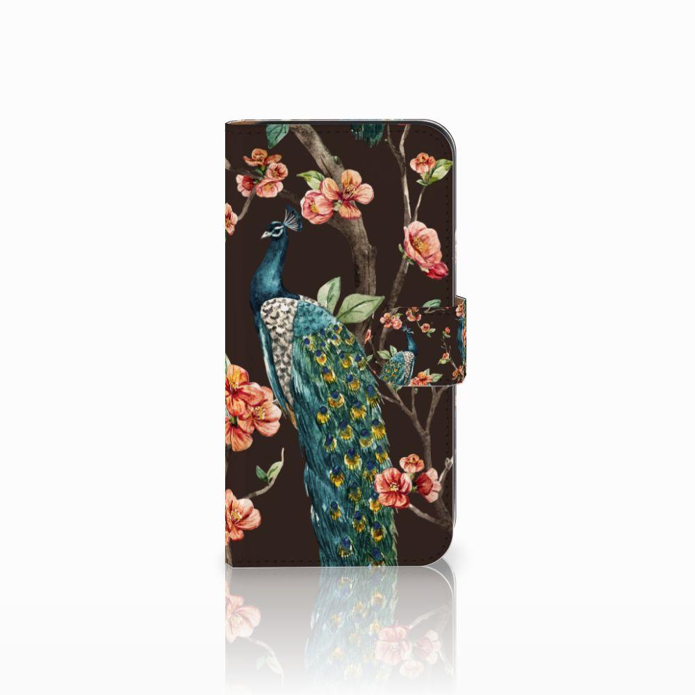 Samsung Galaxy E5 Boekhoesje Design Pauw met Bloemen