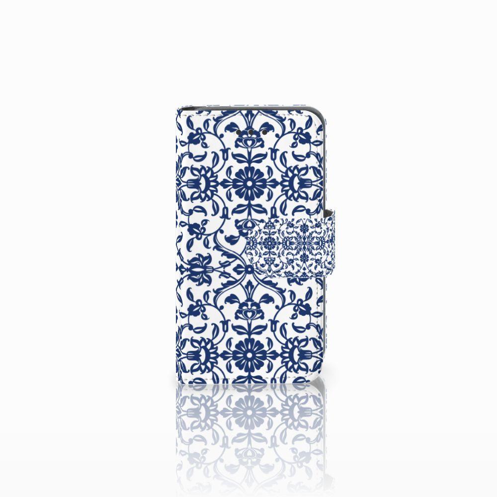Nokia Lumia 530 Boekhoesje Flower Blue