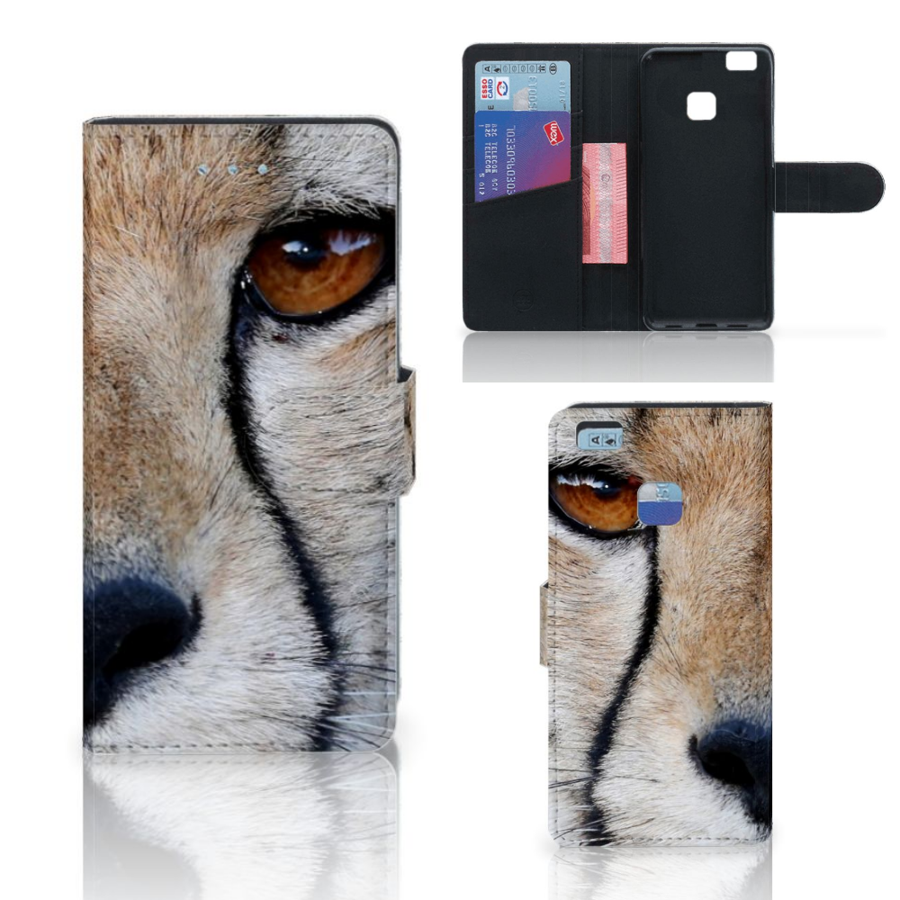 Huawei P9 Lite Telefoonhoesje met Pasjes Cheetah